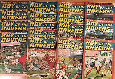 Roy of the Rovers comic September - December 1979 16 Issues  - in good condition
