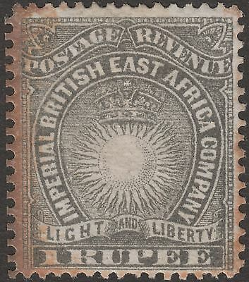 British East Africa 1890 Queen Victoria 1r Grey Mint SG15 cat £225 heavy toning