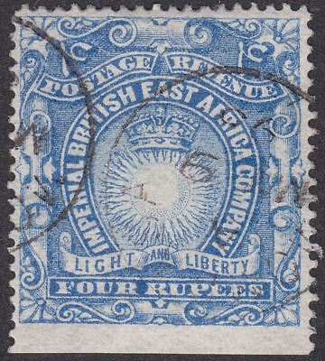 British East Africa 1890 Queen Victoria 4r Ultramarine Used SG18 cat £55