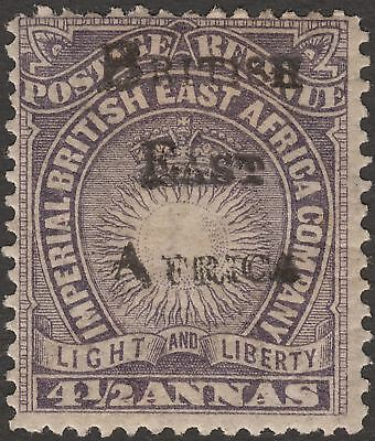 British East Africa 1895 QV 4½a Overprint Mint SG39 cat £225 partial doubled