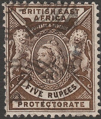 British East Africa 1896 QV 5r Sepia Used SG79 cat £42