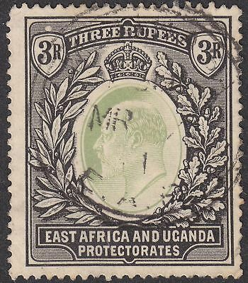 East Africa Uganda 1907 KEVII 3r Grey-Green and Black Used SG28 cat £150