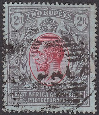 East Africa and Uganda 1912 KGV 2r Red and Black on Blue Used SG54 cat £45