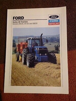 Ford Series 30 tractors brochure 1990, (Models 8630, 8730 and 8830)