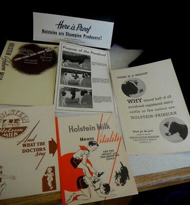 6 Vintage HOLSTEIN FRIESIAN BULL Purebred COW History PAMPHLETS Date 1945-1948