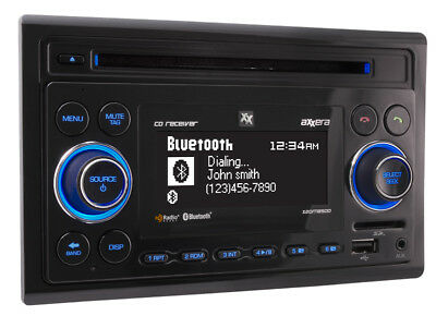 Dual Axxera Double 2 DIN AM FM CD Bluetooth USB HD SD iPhone Car Stereo & Remote