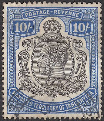 Tanganyika 1927 KGV 10sh Deep Blue and Black Used SG106 cat £160