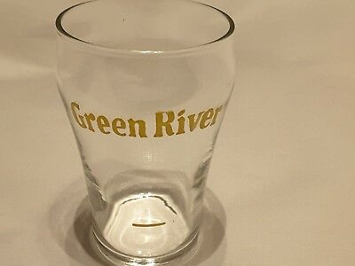 Vintage Green River Soda Sample Fountain Glass in Very Good Condition!