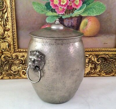 LIBERTY & Co TUDRIC Pewter Biscuit Barrel Pre 1914 Wm Haseler Solkets 01065