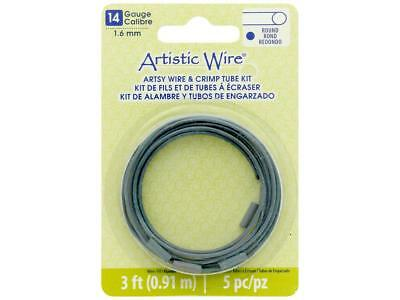 Artistic Wire Atw14064  Artsy Wire W Crimps 14Ga Turq 3Ft