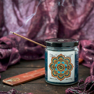 Nag Champa Incense Scent Scented Candle Daddy Glass Jar 6 oz 40 Hour Burn NEW