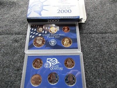 2000  10-Coin Proof Set, Mint Sealed In Mint Holder, Proof Coins, Day-02866