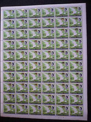 Stamps - Pitcairn Islands - Full Sheet - Surcharged in Gold - Scott# 76