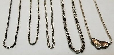 STERLING SILVER All Marked .999 SILVER USA Necklaces Chains Lot 58.3g Not Scrap