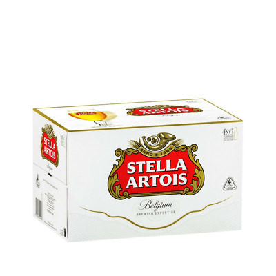 Stella Artois Beer Case 24x330ml Bottles (4x6pack)