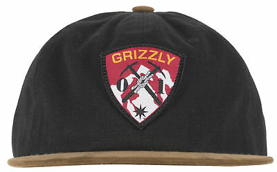 Grizzly Griptape Protected Lands Strapback Headwear Cap Hat Lid Skater Men  Black b5d15c0186c3