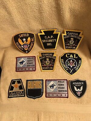 Security Guard Patches Lot