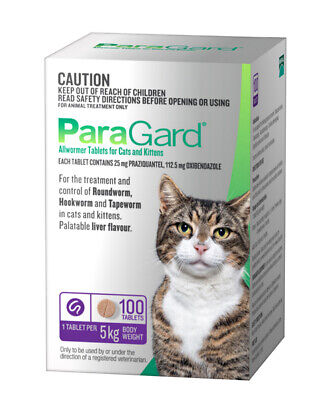 Paragard Cat & Kittens Allwormer Treatment & Control Tablets 100's (P5612)