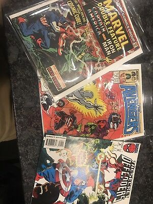 Marvel Comic 3 Pack, Marvel Double Feature #4, Avengers #290, Secret Defenders#8