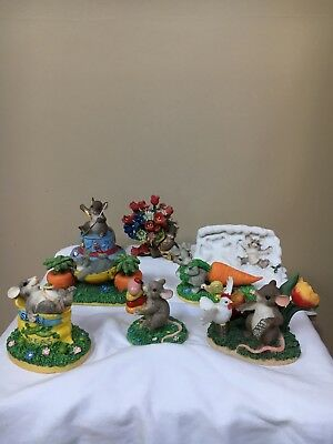 CHARMING TAILS LOT OF 7 Various Figures