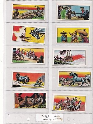 """LOT of various WESTERN/COWBOY """"primrose confection """" 1960  candy/gum cards (32)"""
