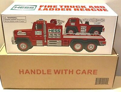 Hess 2015 Fire Truck & Ladder Rescue - New in Box - Never Opened - Fast Shipping