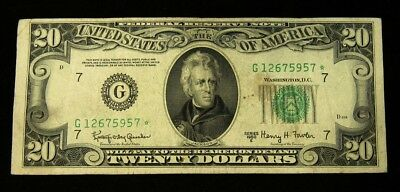 1950-E $20 Chicago District FRN STAR Note - F+/VF - FR.2064-G* - Granahan/Fowler