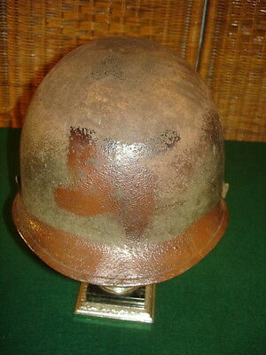 Wwii U.s. Fixed Bale M1 Helmet With Liner