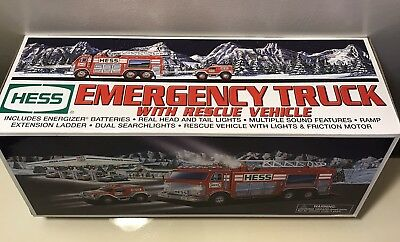 Hess 2005 Emergency Truck With Rescue Vehicle New in Box Never Opened Fast Ship