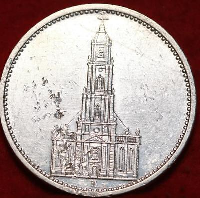1935-A Germany 5 Mark Silver Foreign Coin