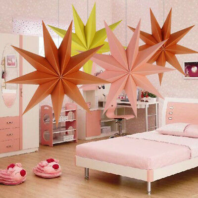 9 Angles Stars Hanging Paper Wedding Party Baby Shower Home Hanging Decoration