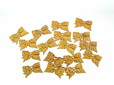 Vintage Raw Brass Large Sculpted Bow Shape Top Drilled Stamping Findings Lot