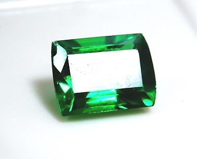 Untreated Natural 6.90 Cts Emerald Cut Green Topaz Loose Gemstone