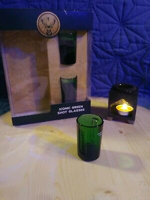 Jagermeister Green Shot Glasses (×2) No Bottle