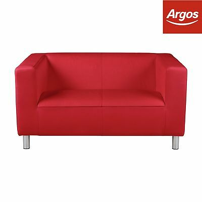 Magnificent Argos Home Moda Compact 2 Seater Fabric Fixed Cushions Sofa Bralicious Painted Fabric Chair Ideas Braliciousco
