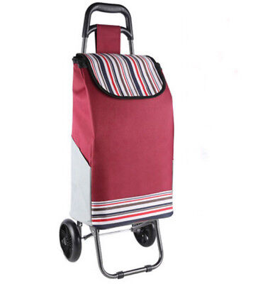 A154 Rugged Aluminium Luggage Trolley Hand Truck Folding Foldable Shopping Cart