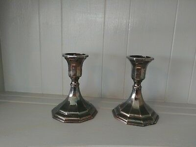Lovely pair of vintage Sterling Silver Candlesticks