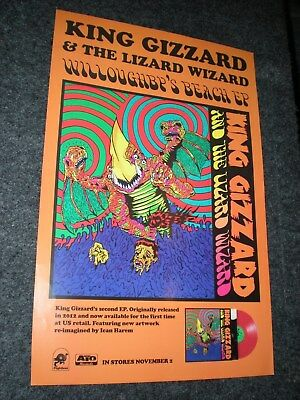 POSTER by KING GIZZARD & THE LIZARD WIZARD 12 bar bruise willoughbps beach GIG #