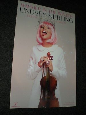 POSTERS by LINDSEY STIRLING warmer in the winter Limited edition promo for cd #