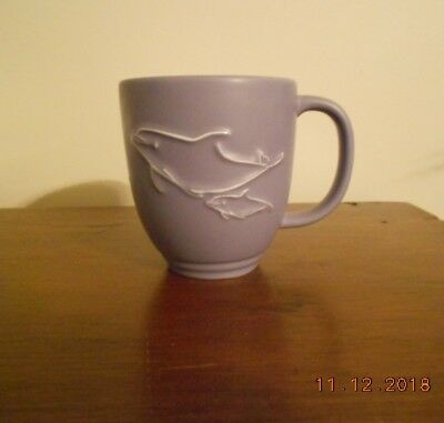 Wyland Raised Dolphin Mug Bold Color and Great Look 2002