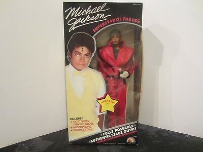 Vintage LJN Michael Jackson Superstar of the 80's Doll w/ Thriller Outfit NIB