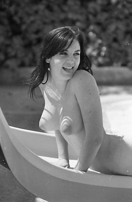 1960s Ron Vogel Negative, busty nude brunette pin-up girl Lana Rodgers, t216542
