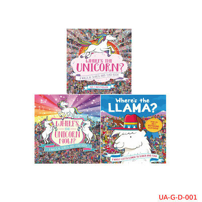 Now A Magical Search-and-Find Book Where's the Unicorn 3 Book Set Brand NEW