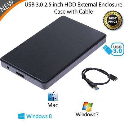 "2TB/4TB USB 3.0 SATA External 2.5"" HD HDD Hard Drive Enclosure Disk Shell Box"