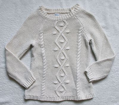 Girls Toddler Old Navy white cotton sweater size 4 years 4T