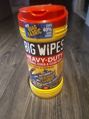 big wipes heavy duty antibacterial 80 wipes inside