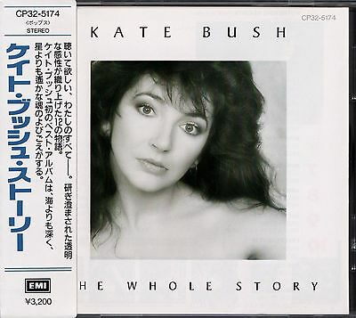 KATE BUSH The Whole Story FIRST JAPAN CD OBI CP32-5174 David Gilmour Pink Floyd