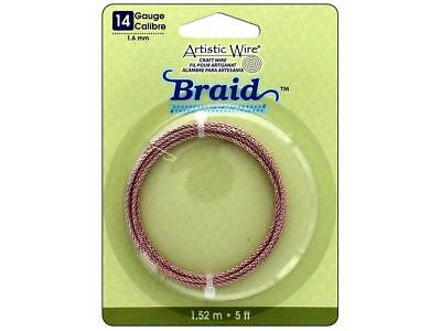 Artistic Wire Atw12827  Braid 14Ga 1 6Mm Rose Gold 5Ft