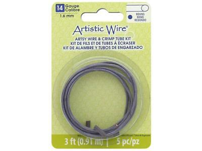 Artistic Wire Atw14065  Artsy Wire W Crimps 14Ga Mauve 3Ft
