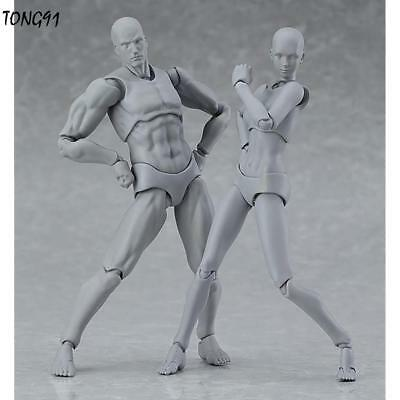 Female Male Figures Mannequin Draw Art Mobile Joint Model Figurine T9G1